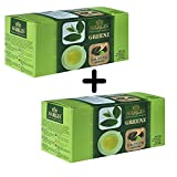 coffee bean and tea leaf maker - Nargis Brand Darjeeling Green Tea 25+25 Teabags Organic Healthy Anti Stress Fresh Garden Leaves 100% Pure & Certified Exquisite Flavor and Taste