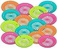 "1 Dozen of Reusable Plastic Holders for 9"" Paper Plates Bright Colors"