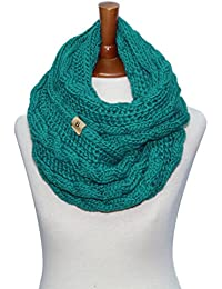 Women Winter Chunky Wide Knitted Infinity Scarf Warm Circle Loop Various Colors