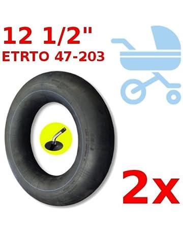 2x CAMARA DE AIRE 47-203 ADAPTABLE JANE POWERTWIN POWERTRACK SLALOM RUEDA CARRITO BEBE VALVULA