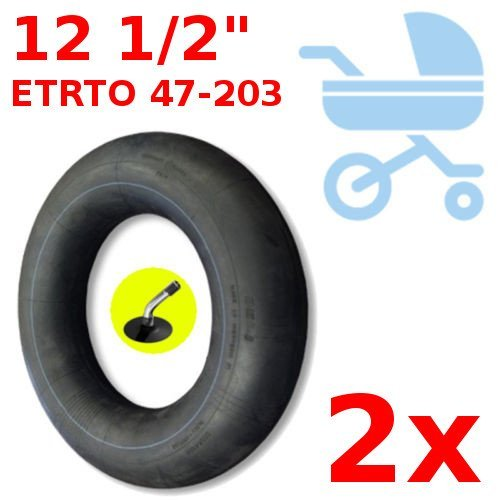 UNIVERSAL 2x INNER TUBE 12 1/2 INCH 47-203 ADAPTABLE JANE POWERTWIN POWERTRACK SLALOM KID STROLLER PUSHCHAIR BUGGY MINI BIKE BENT VALVE TUBES SET FOR TIRE BABY KID CHILDREN CARRIER SEAT cyclingcolors
