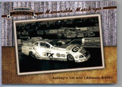 2010 Press Pass Legends #56 John Force & Ashley Force Hood - Force Ashley Hood