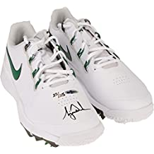 Tiger Woods Autographed White & Green Nike TW 14 Golf Shoes - Limited Edition of 25 - Upper Deck - Fanatics Authentic Certified