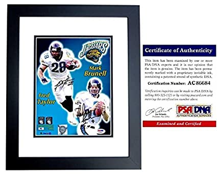 0de11e20672 Fred Taylor and Mark Brunell Signed - Autographed Jacksonville Jaguars - Jax  Jags 8x10 inch Photo
