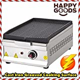 12 '' ( 30 cm ) ELECTRIC Commercial Kitchen Equipment Countertop GROOVED CAST IRON SURFACE Top Restaurant Grill Stove Cooktop Manual Griddle 220V