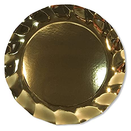 Amazon.com: Sophistiplate Brilliant Gold Metallic Paper Charger ...