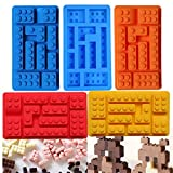 Generic sky blue, 155x85x20 mm : DIY Silicone Lego Brick Style Square Sharped Ice Mold Chocolate Mold Cake Jello Mold Building Blocks Ice Tray