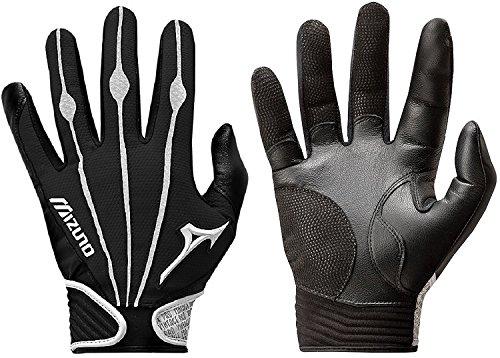 Mizuno Youth Vintage Pro Batting Gloves, Black/White, Medium