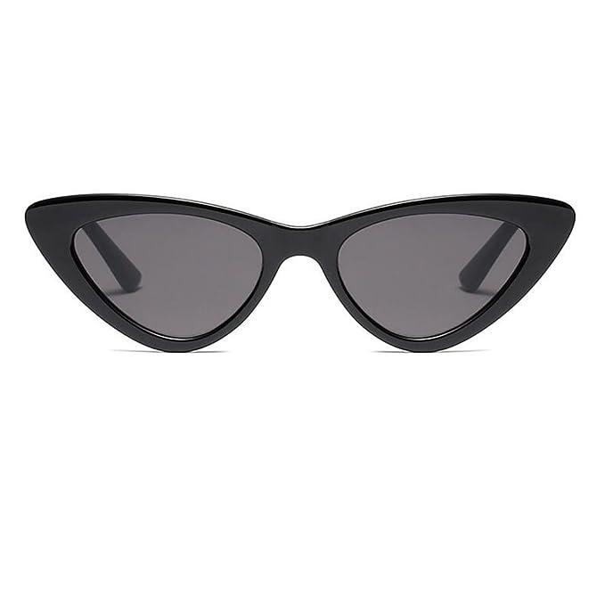 migliori scarpe da ginnastica f7e81 1f26f Hzjundasi Fashion Mod Chic Super Cat Eye Triangle Occhiali da sole Donna  Vintage Retro Eyewear