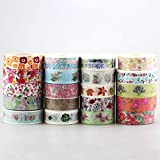 DHL Cute Kawaii 100pcs / Lot Tape Flowers Scrapbooking DIY Decorative Adhesive Japanese Washi Paper Tape for Gift
