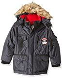 Weatherproof Boys' Outerwear Jacket,Parka Heather Print,7