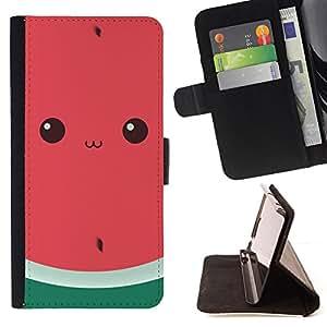 - Queen Pattern FOR Sony Xperia Z1 Compact D5503 /La identificaci????n del cr????dito ranuras para tarjetas tir????n de la caja Cartera de cuero cubie - funny watermelon cute draw