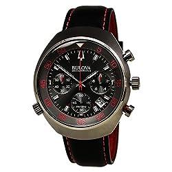 Bulova Accutron II Lobster Grey Dial Leather Strap Men's Watch 98B252