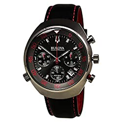 Men's Bulova Accutron II Lobster Chronograph Black and Red Watch, 98B252