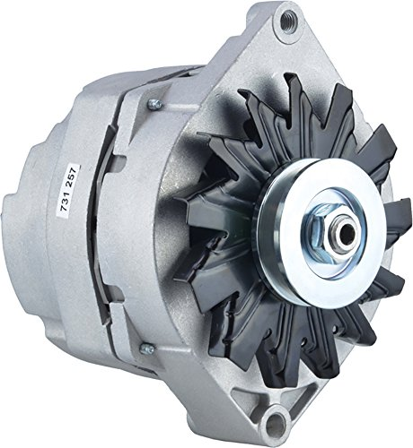 New Alternator for GM 7.4L(454) V8 Gas CHEVROLET/GMC All Models 83 84 85 86 87 88 1983-1988 7290-9, 9Clock 108Amp External Fan Type Solid Pulley Type Internal Rotation CW Rotation 12V