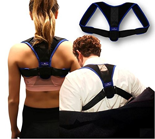 Posture Corrector Back Brace By Straight Arrow  Adjustable  Comfortable And Gentle Clavicle Support Brace   Suitable For Men   Women   Fix Poor Posture   Relieve Back Pain   Discomfort