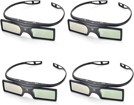 4 Pares Pergear 144Hz 3D DLP-link Proyector Gafas para Optoma/BenQ ...