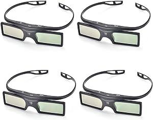 PERGEAR 4xG15-DLP 144Hz 3D DLP-Link Active Glasses for Optoma/BenQ/Acer/LG Projector