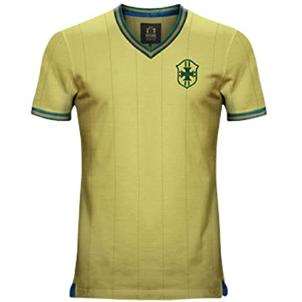 29a267df001 Image Unavailable. Image not available for. Color: Vintage Brazil Home Soccer  Jersey