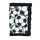 CTM Kid's Soccer Ball Print Trifold Wallet, White