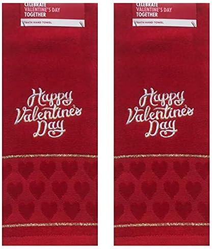 Red Valentine/'s day Kitchen towel