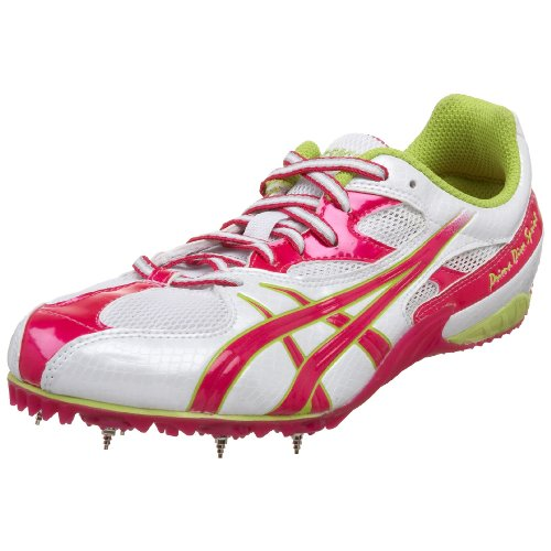 ASICS Women's Prima Diva Sprint Track & Field Shoe,White/Hot Pink/Lime,6.5 B US by ASICS