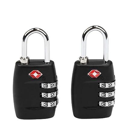 TSA Equipaje Locks, Ballery 2 x Candado TSA equipaje de seguridad Combinación De 3 Dígitos