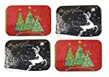 Christmas Gift Card Holders Tin Box Christmas Trees and Reindeer 4 Pack