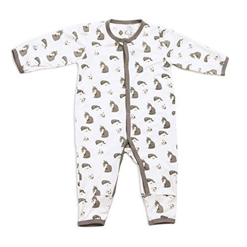 Kyte BABY Rompers - Baby Footless Coveralls Made of Soft Organic Bamboo Material - 0-24 Months - Printed Color (Newborn, Woodland)
