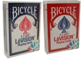 Bicycle E-Z See Special Playing Cards - 2 Decks by Poker