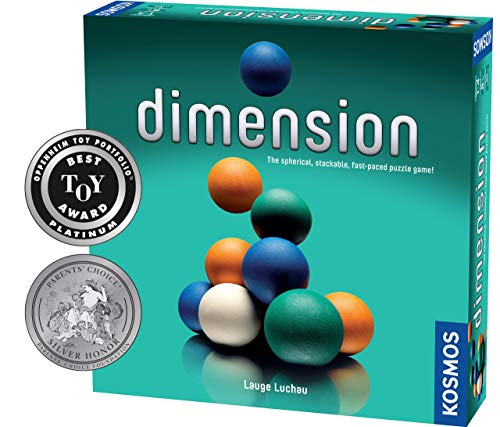 (Dimension - A 3D Fast-Paced Puzzle Game from Kosmos | Up to 4 Players, for Fans of Strategy, Quick-Thinking & Logic | Parents' Choice Silver Honor & Oppenheim Toy Portfolio Platinum Award Winner)