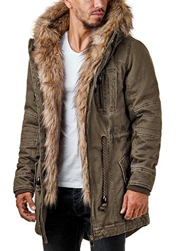 Mantel mit fellkapuze herren