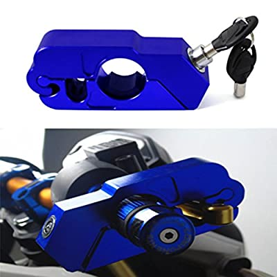 Racing 1 Motorcycle Grip Lock Secure Your Motorcycle/Bike/ATV/Moped/Scooter. Locks Your Grip/Brake/Throttle/Handlebar (Blue): Automotive