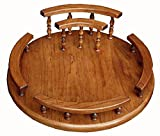 Solid Wood Custom Lazy Susan with Napkin Holder (16'', Cherry)
