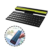 pzoz Bluetooth Keyboard, Portable Foldable Wireless Keyboard with Groove holder, Carrying Pouch, for iPad, iPhone, and More Tablets, Laptops and Smartphones