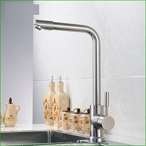T-TSLT Edelstahl Spülbecken Wasserhahn heiß und kalt Waschbecken Wasserhahn drehbar Wasserhahn