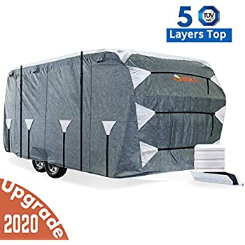 SavvyCraft Deluxe Travel Trailer cover w//Access Panels Fits 36-38L