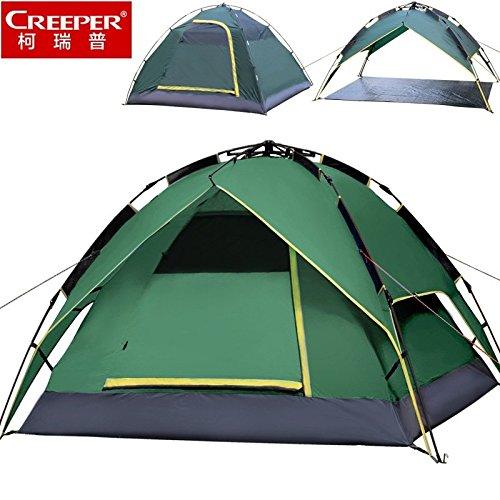 FUDA tent Outdoor-Camping- Zelt 3-4 Personen mit drei Doppel automatische Zelt regen und Wind und Reisezelte Strandzelte