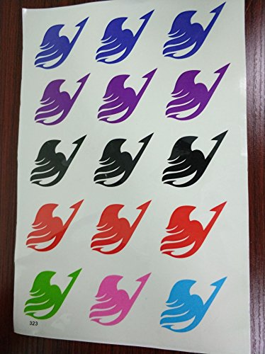 96ca71aad EXTREE Fairy Tail Guild Disposable Body Tattoo Paper,Temporary Tattoo  Sticker for Kids, Long