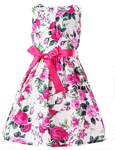 Floral Girls Dresses 7-16 Spring Dresses Clothes,rose5,9-10 Years(150) -