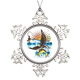 Moc Moc Tree Branch Decoration Eagle-Thief-3-No-Text Photo Frame Snowflake Ornament Outdoor Snowflake Ornaments