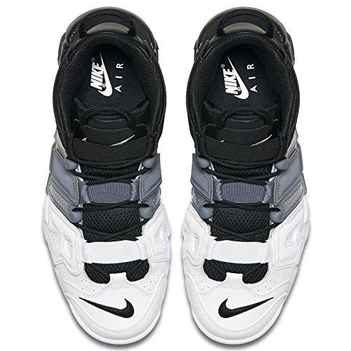 Nike Herren Air More Uptempo '96 Basketballschuhe Schwarz / Cool Grau / Weiß / Schwarz