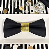 Rhinestone Napkin Rings 100PCS - Gold for Wedding Decorations Birthday Bachelorette Party Banquet Supply Baby Bridal Shower Kitchen Table Dinner- DIY Chairs Sash Bows Tablecloth Cloth Paper Napkins