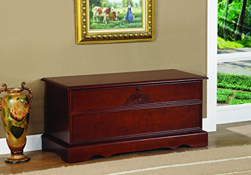 Cedar Chest with Locking Lid Warm Brown