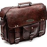 "Handmade_World leather messenger bags for men women 18"" mens briefcase laptop bag best computer shoulder satchel school distressed bag (13"" X 18"")"