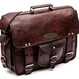 Handmade_World leather messenger bags for men women 18'' mens briefcase laptop bag best computer shoulder satchel school distressed bag (13'' X 18'')
