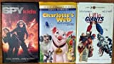 3 Pack Children's Videos - Spy Kids, Little Giants & Charlotte's Web