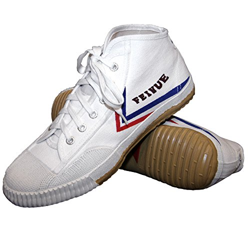 Tiger Claw White Feiyue High Top Shoes - Size 40