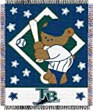 Tampa Bay Devil Rays 36''X48'' Woven Baby Throw Blanket