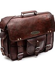 Handmade_World leather messenger bags for men women 18 mens briefcase laptop bag best computer shoulder satchel...